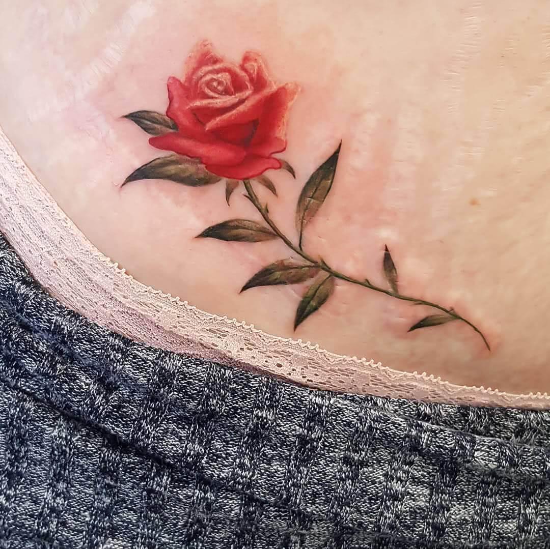 Realistische Rose