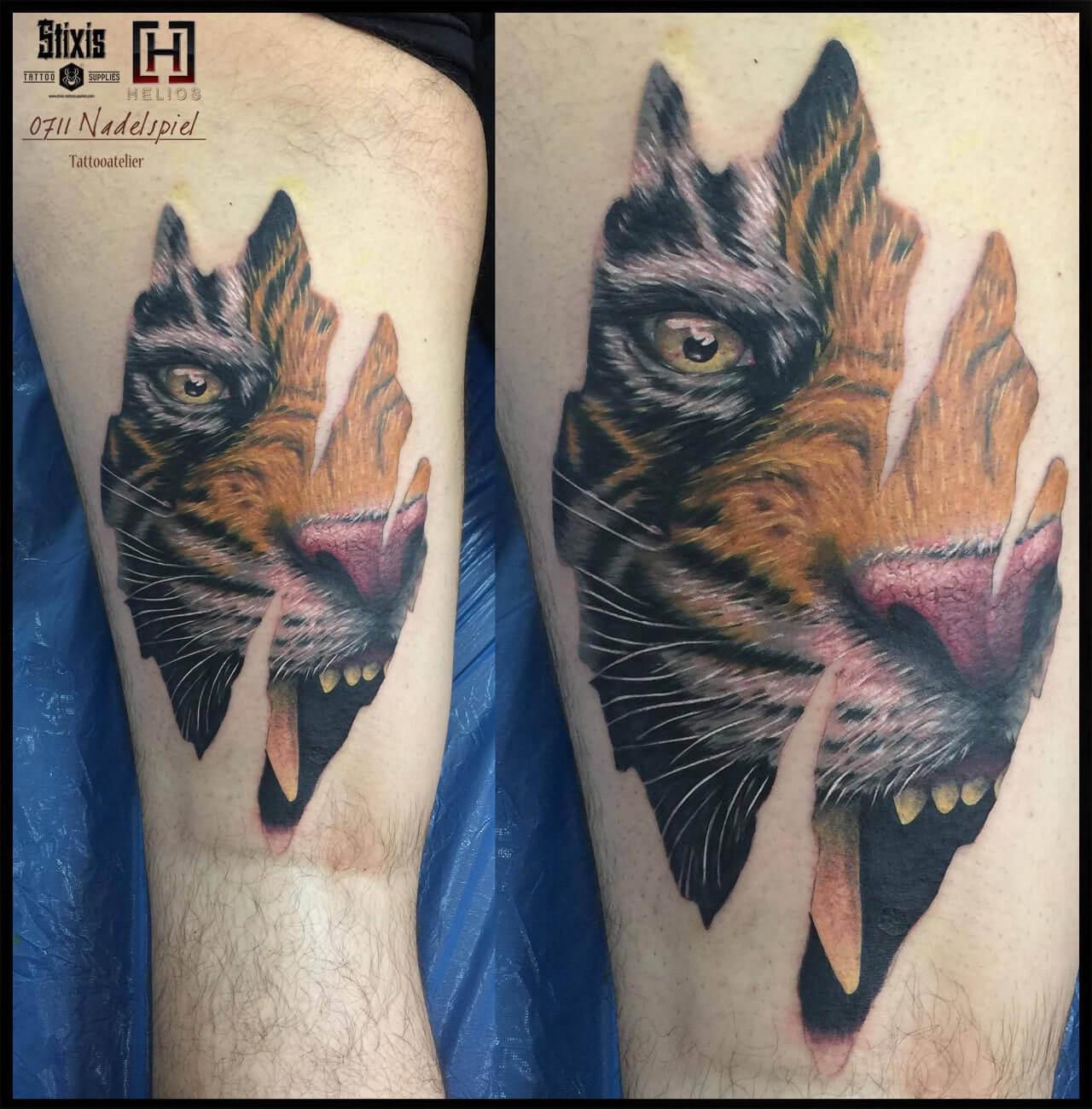 Realistischer Tiger Anriss
