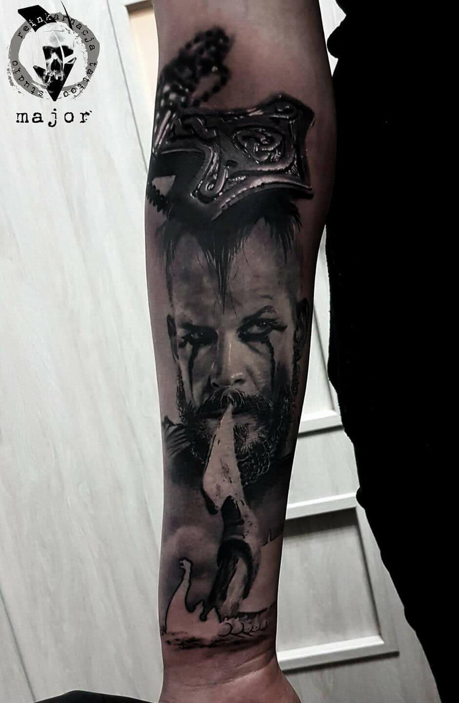 Tattoo Realistisches Wikinger Motiv