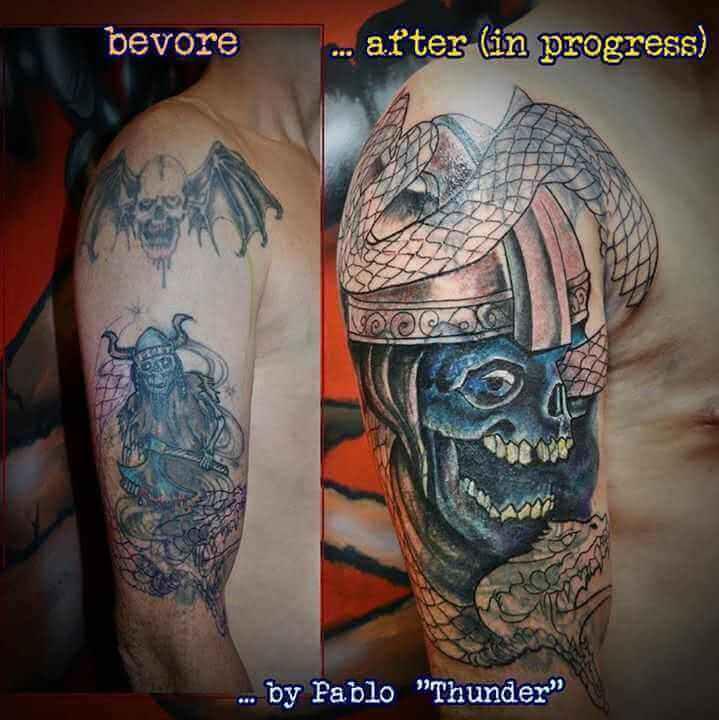 Skelettkrieger Cover Up