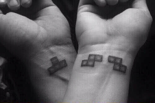 Tetris auf Handgelenk