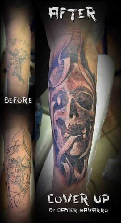 Totenkopf Cover up Tattoo