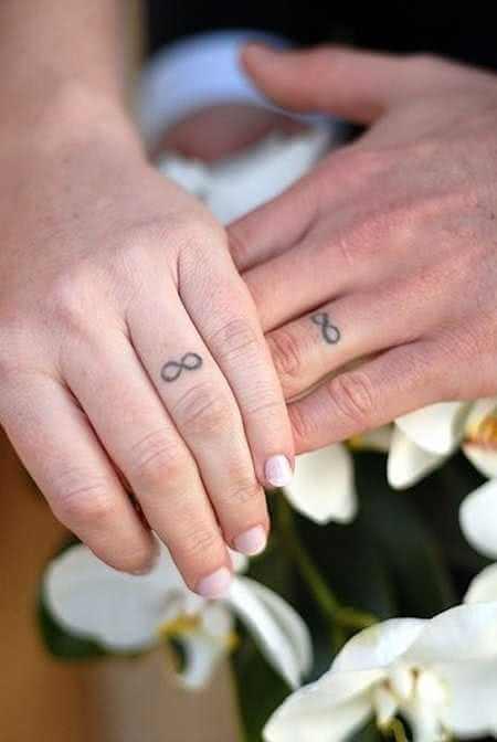 Unendlich Zeichen Finger